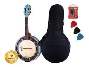 Rozini Banjo Afinador Bag Palhetas Azul Rj11az Caixa Larga
