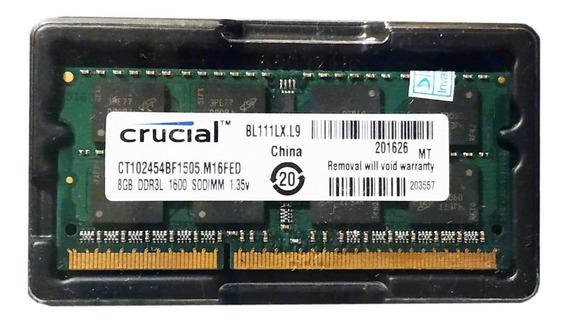 Memoria Ram 8gb Sodimm Crucial 1600mhz Ddr3l 1.35v