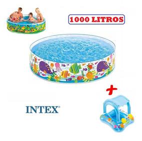 Piscina Infantil Intex 1000 Lts + Boia Bebê Fralda Coberta