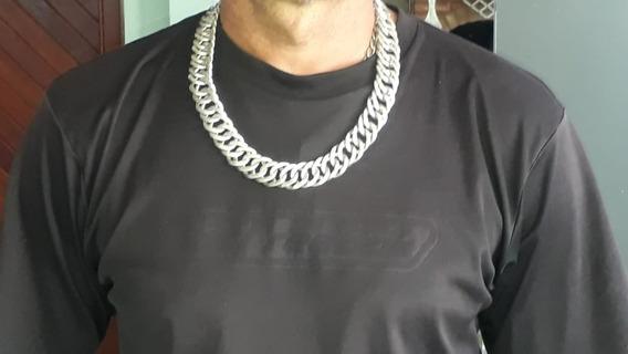Cordão Corrente Prata - Elos Grumet Duplos 320g X 62cm X 2cm