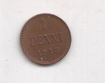 Finlandia Moneda De 1 Penni Año 1913