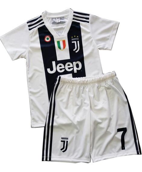 Conjunto Camiseta Y Short Bebe Niño Juventus Personalizado