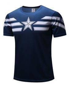 Camisa Camiseta Super Heróis Fantasia Capitão América