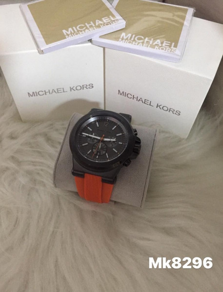Relógio J98 Laranja Michael Kors Mk8296 Sporte Promocional