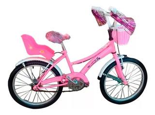 Bicicleta De Paseo Flower R20 Full Nena En Richard Bikes