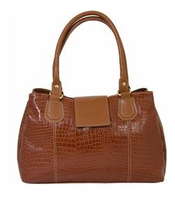 Bolsa Feminina Ombro Couro Star Bag Tripla Grande 1949