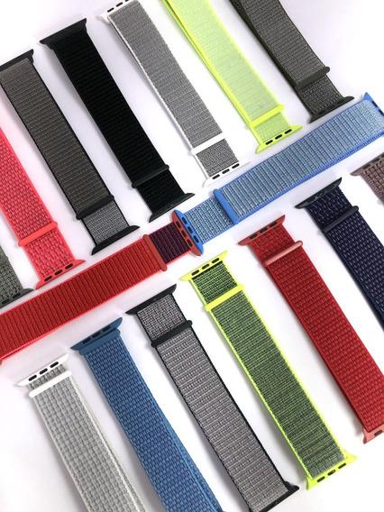 Correa Nylon Compatible Para Aple Watch Serie 38/40/42/44mm