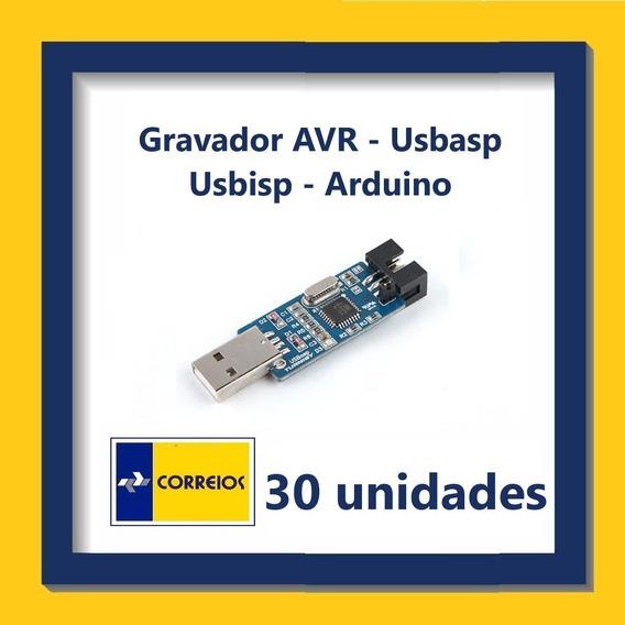 Gravador Avr - Com Cabo Adaptador Isp - Kit Com 30 Unidades