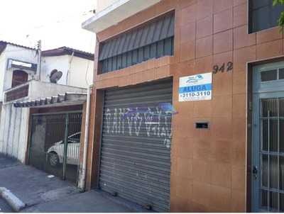 Salão Para Alugar, 60 M² Por R$ 1.200/mês - Vila Antonieta - São Paulo/sp - Sl0031