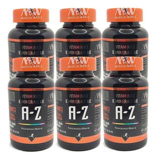 6x Polivitamínico A-z ( Vitaminas E Minerais ) 60 Caps