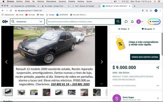 Renault 19 Mol 2000 Excelente Estado 9