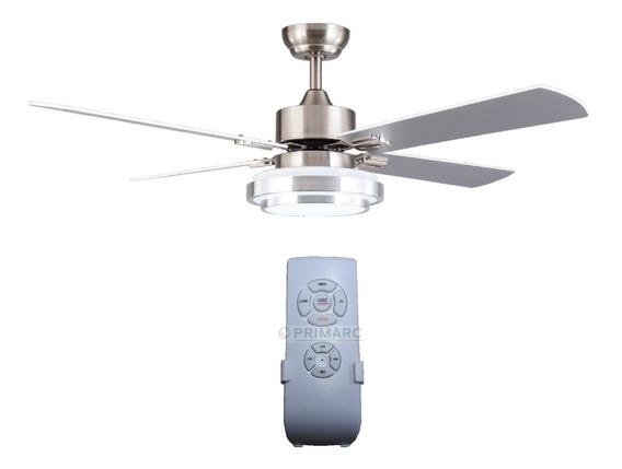 Ventilador Techo Luz Led Panel 18w Control Remoto Raptor