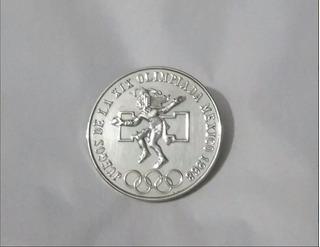 Moneda 25 Pesos Juegos Olimpicos Plata Ley 720