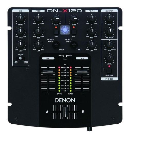 Denon Dn-x120 Mixer Profissional 2 Canais