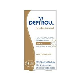 Depi Roll Folhas Prontas Facial Tradicional C/ 16