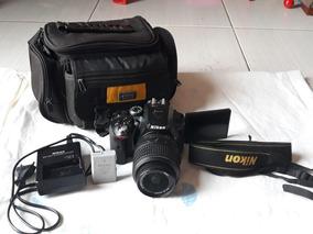 Câmera Nikon D5300 Usada + Lente 18-55 Mm