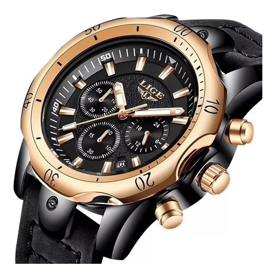 Relógio Masculino Lige Top Original Luxo 100% Funcional