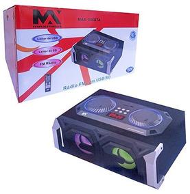 Radio Bivolt 150w Gravador Com Controle E Luz Bluetooth Fm U