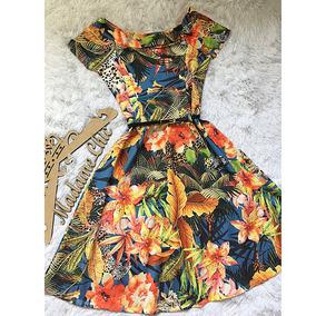 Vestido Rodado Evangelico Florido Roupas Femininas