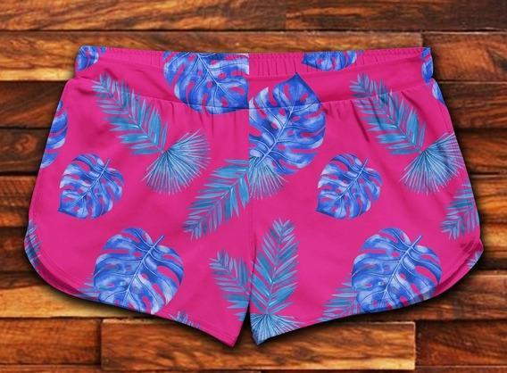 Short Feminino Moda Praia Patricinha Florido Verão Ref505100