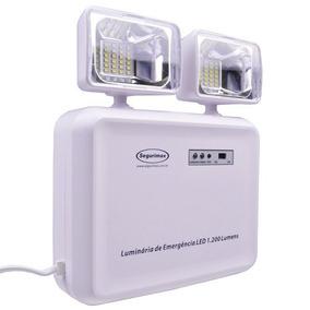 Luminária Luz De Emergência 1200 Lumen Aprovado Bombeiro Sm