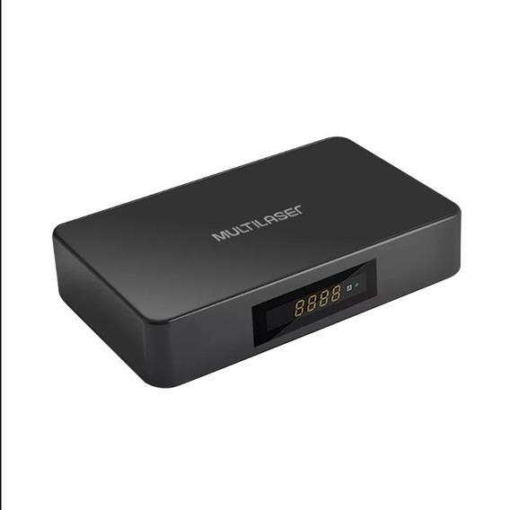 Conversor Tv Smart Digital Multilaser Pc001 Box Hdmi Preto