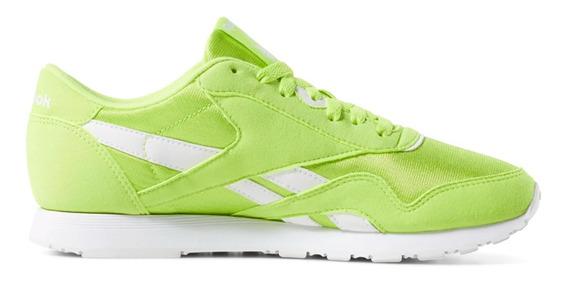 Zapatillas Moda Reebok Classic Nylon Verde Mujer