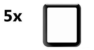 Kit 5 Película 5d Gel Smartwatch P80 P70 P68 T80 Amazfit Bip
