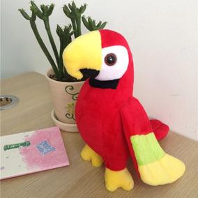 Arara De Pelúcia 20cm Papagaio Fofo Presente