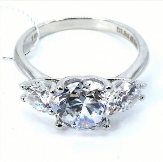 Anillo Aniversario Diamante Lab Vvs1 Plata 925/14k #7