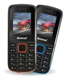Celular Amvox Ax 2002 Preto+azul