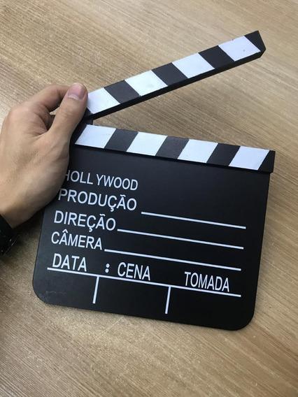 Claquete De Mdf 20x18cm Enfeite Decorativo Cinema Eventos