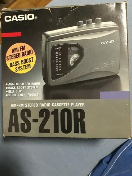 Walkman C/ Caixa: Casio As-210r Am/fm Bass Boost