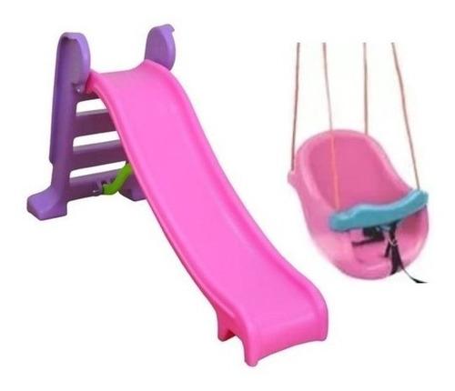 Escorregador Infantil 3 Degraus + Balanço Infantil/bebê
