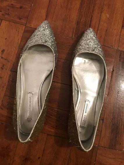 Zapatos Dorado-plata Número 36