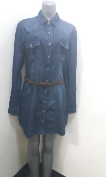Vestidos Cortos Love Stitch Azul Jean - Talla S