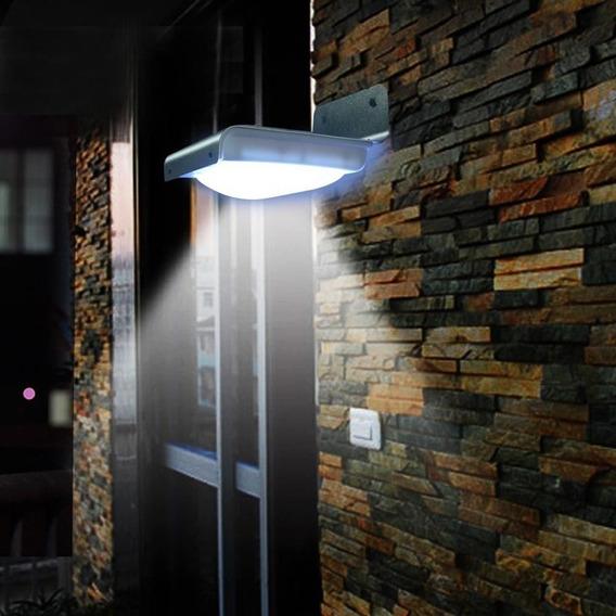 Lampada De Parede Solar C/16 Leds Luminária Sensor Movimento