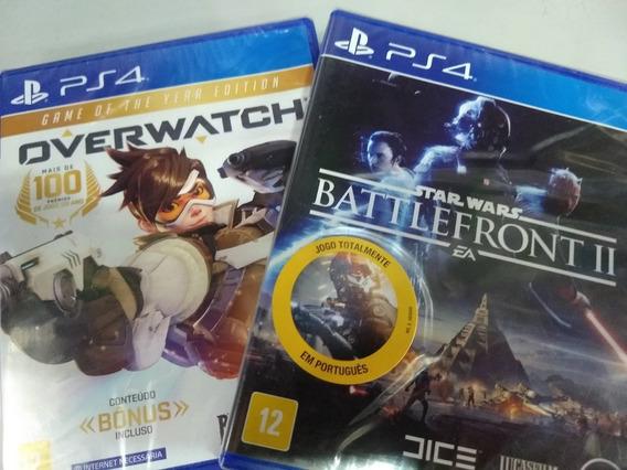Combo Jogos Ps4 Overwatch + Star Wars Battlefront 2 Física