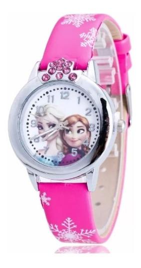 Relógio Frozen Pulseira Pink Rg 011c Promoção!!!