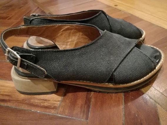 Zapato Negro Bajo Cest Fini 35