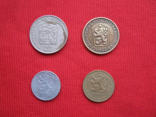 Imagen 1 de 2 de Checoslovaquia Lote 4 Monedas Diferentes