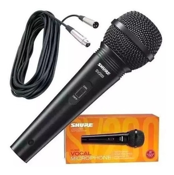 Microfone Shure Sv200 Shure 100% Original Na Caixa