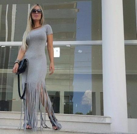 Vestidos Femininos Longos Casuais Saída De Praia Moda 2700