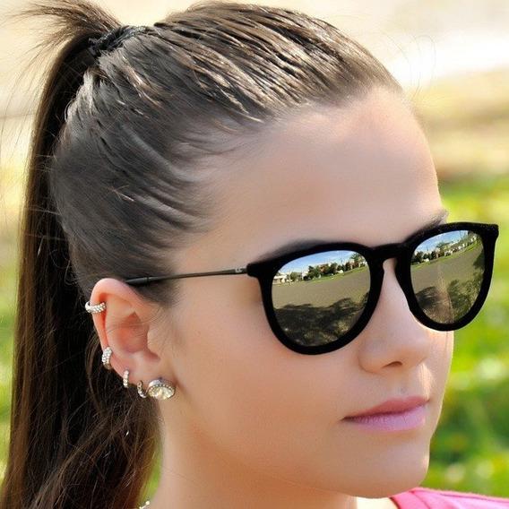 Óculos De Sol Feminino Erk Veludo Degrade Polarizado Lindo