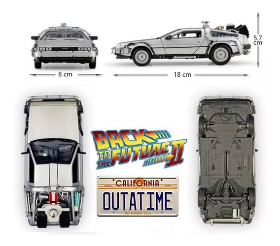 Delorean Time Machine Back To The Future 2 - Welly 1/24
