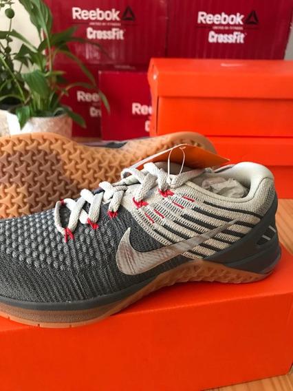 Tênis Nike Metcon Dsx Flyknit Cinza/prata - Frete Grátis