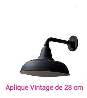 Aplique De Luz Vintage De 28, 35 Y 45 Cm Interior Y Exterior