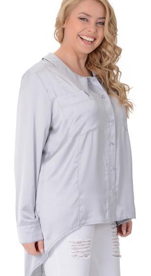 Camisa Portofem De Seda Natural C/ Entalle - Talles Grandes