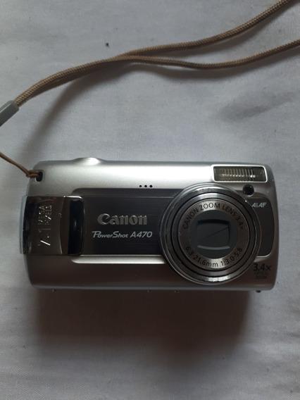 Câmera Powershot A470 Canon - 2 Pilhas Aa