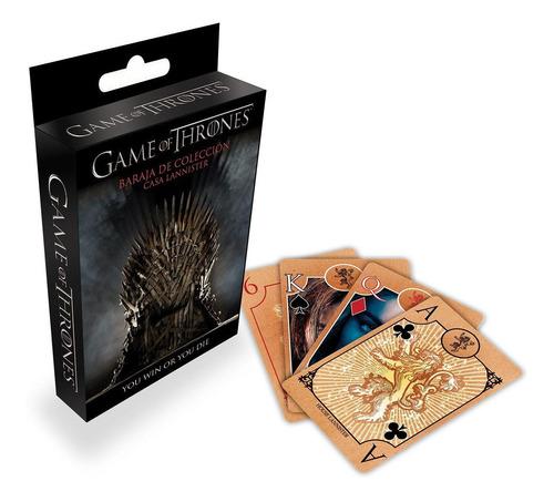 Cartas Game Of Thrones Casa Lannister Baraja Naipes Tronos